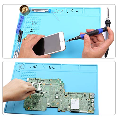 """Product Image 1: XOOL 80 in 1 Precision Screwdriver Set & Heat Insulation Silicone Repair Mat(13.7""""×9.76""""), Professional Electronics Repair Tool Kit for Repair Cell Phone, iPhone, iPad, Watch, Tablet, PC, MacBook"""