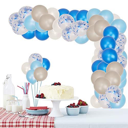 Herefun Kit de Guirnalda de Globos, Kit de Arcos de Globos con Cinta, Herramienta de Atado, Bombas de Globo para Fiesta de Cumpleaños Aniversario Decoración (Azul)