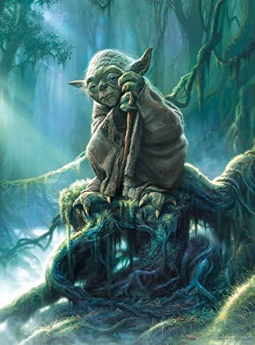 XRH Gioco Puzzle Decompression Toy 500/1000/1500 Pezzi Star Wars Yoda (1500Pezzi)