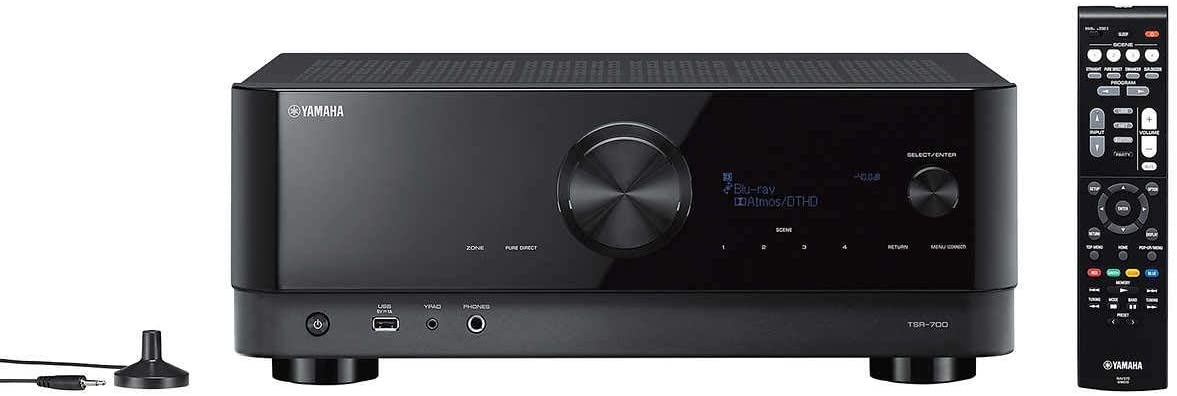 Yamaha TSR-700 Los Angeles Mall 7.1 Channel AV Receiver with 8K HDMI MusicCas Boston Mall and