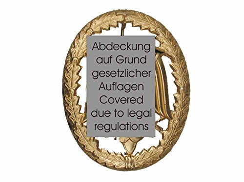 Original Bundeswehr Leistungsabzeichen Gold Metall Abzeichen 55 x 43 mm mit Bundesadler