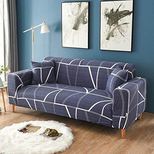 WXQY 24 Colores para Elegir Funda de sofá Asiento elástico Fundas de sofá loveseat sillón funiture Fundas sofá Toalla 1/2/3/4 plazas A15 4 plazas