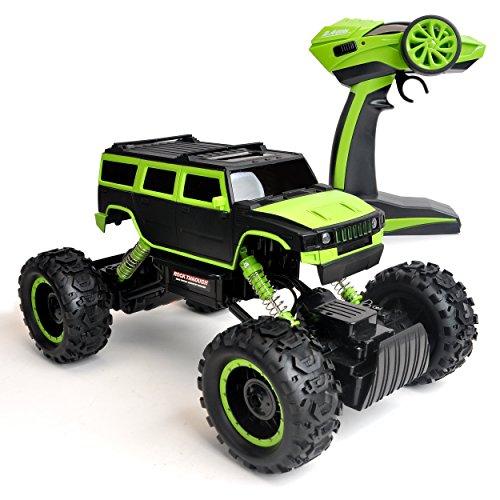 RC Auto kaufen Monstertruck Bild 4: Maximum RC Ferngesteuertes Auto für Kinder - 4WD Monstertruck - XL RC Auto für Kinder ab 8 Jahren - Rock Crawler (grün)*