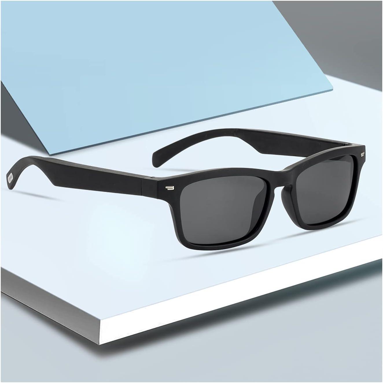 QSMGRBGZ Bone Conduction Smart Glasses,Smart Bluetooth Call Stereo Dual Speakers,100Mah Sports Call Glasses for Music,Polarized Light