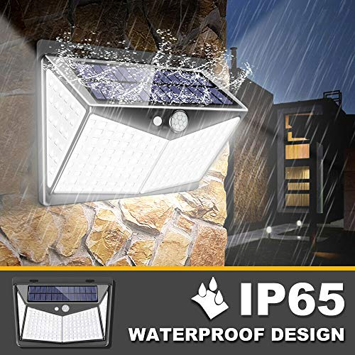 212 Led Motion-Sensor-Solar-Light-Outdoor, 3 Modes, 270° Wide Angle, IP65 Waterproof, Easy-to-Install Security Lights for Front Door, Yard, Garage, Deck 2pack
