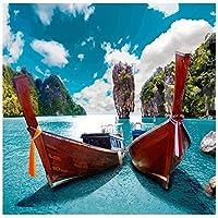 大人のための6000ピースのジグソーパズル水上の2つのボート子供のためのアートパズル挑戦的なパズル難しいパズル家の装飾のためのDIYおもちゃギフト
