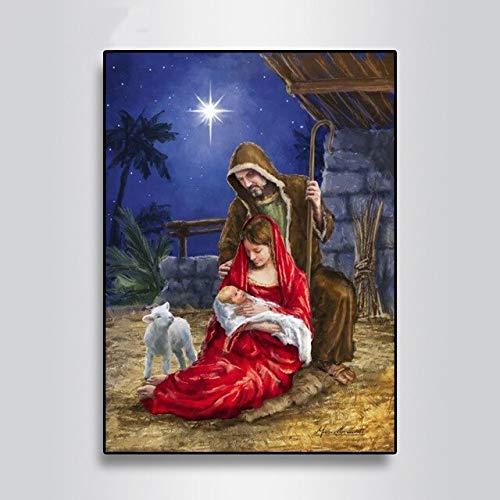Puzzle 1000 piezas Regalo de la decoración de la imagen del arte de la pintura del hijo de la Virgen María puzzle 1000 piezas animales Gran ocio vacacional, juegos interactivo50x75cm(20x30inch)