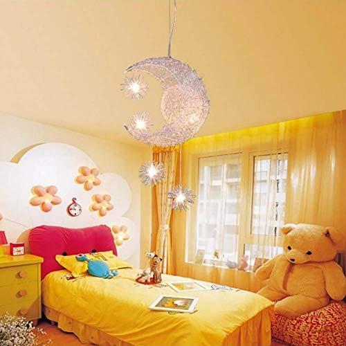 Gutyan Creative Moon and Stars Moderne led Pendelleuchte Deckenleuchte Mond und Sterne für Kinderzimmer, Wohnzimmer