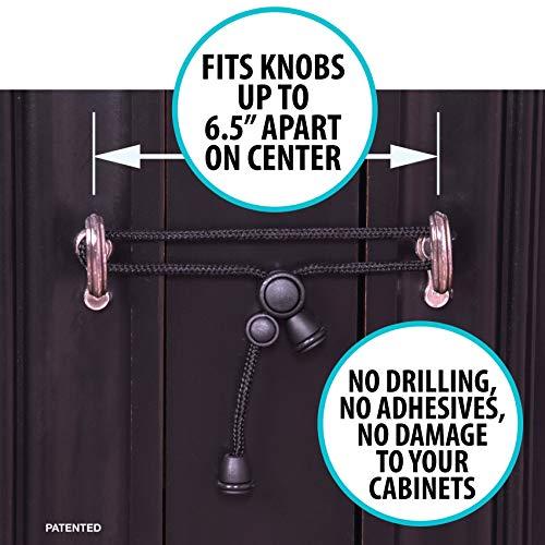 5 Kiscords Baby Safety Cabinet Locks For Handles No Drill Screws No Adhesive