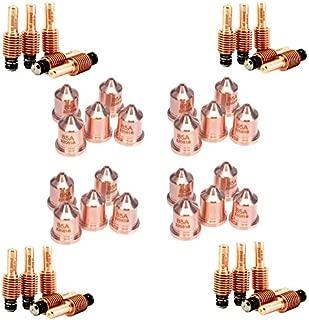 Jack&Dave 20PCS 220842 Plasma Electrodes 20PCS 220816 Plasma Tips Fit Hypertherm Powermax 45/65/85/105