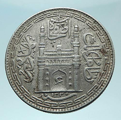 1912 IN 1912 INDIA Princely States Hyderabad ALI KHAN AR coin Good Uncertified