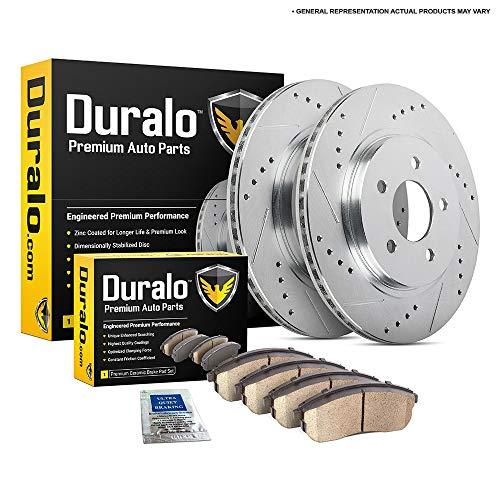 Complete FRONT /& REAR DRILLED /& SLOTTED Brake Kit Rotors /& Ceramic Brake Kit Pads w//Hardware fits 2007-2017 Toyota Tundra Detroit Axle 09-18 Sequoia - 16-18 Land Cruiser - 17-18 Lexus LX570