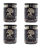 Aceitunas Prietas Negras Deshidratadas Kalamata Española 100% Natural Ideal para Aperitivos Veganos Aceituna Aliñada Rica en Fibra (4 UNIDADES).