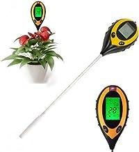 Detector electrónico digital de suelo 4 en 1 para medir el pH, la intensidad de la luz, la humedad y la temperatura del suelo