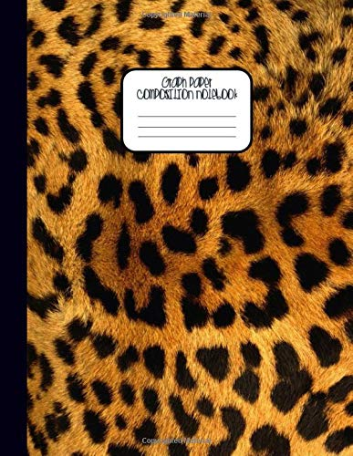 GRAPH PAPER COMPOSITION NOTEBOOK: Cheetah Leopard Print Pattern – Quad Graph Ruled 5 squares per inch 5x5 - Grid Paper Workbook for Math & Science Students (8.5 x 11) Large Journal Diary
