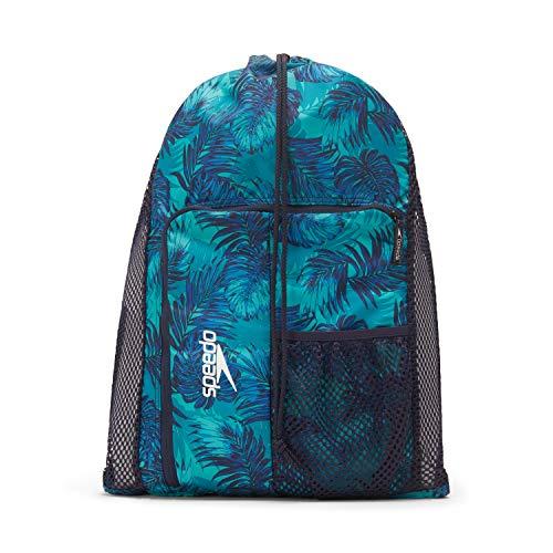 Speedo Unisex-Erwachsene Deluxe Ventilator Mesh Equipment Bag Rucksack, Shady Palms, Einheitsgröße