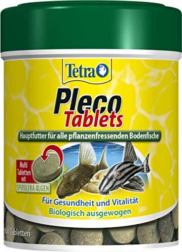 Tetra Pleco Tablets – Nährstoffreiches Hauptfutter für alle pflanzenfressenden Bodenfische (z.B. Welse), verschiedene Größen