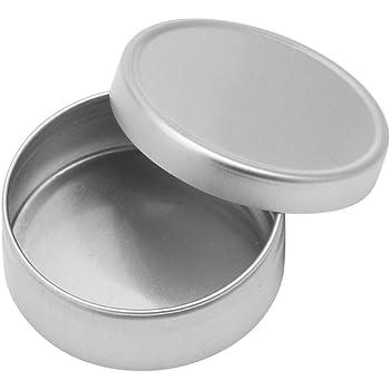Interesting/® 4pcs Portable Argent Cosm/étiques vides Aluminium Pot Jar Bo/îte Lip Gloss Maquillage Conteneur bo/îte de rangement 15/ml + 30/ml + 60/ml + 100/ml