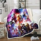 WFBZ Amacigana Marvel Avengers Decke, für Kinder 3D Blanket Für Sofa, Sofa, Decke, Mikrofaser (01,150cm*200cm)