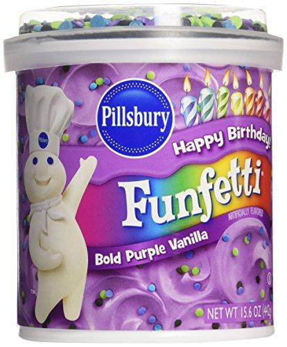 Pillsbury Funfetti Bold Purple Vanilla Funfetti Frosting