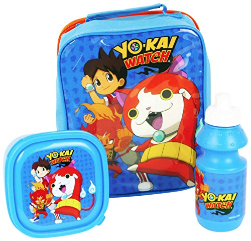 yo-kai polshorloge 4105 V-6667 3-delige set (insukated koeler lunch tas, sandwich box en 350 ml sportfles)