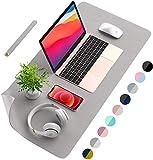 AooCare デスクマット PUレザー デスク マット 極めて薄い 滑り止め 防水 デスク マット ラップトップマット 裏表とも使える 机マット マウスパッド オフィス 自宅用 デスクブロッター パソコン マウスパッド