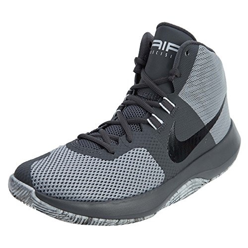 Nike Men's Air Precision High Top Basketball Shoes (11.5, Wolf Grey/Black-Dark Grey)