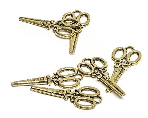 Beads Unlimited kleine metalen schaar, goudkleurig, 10 stuks