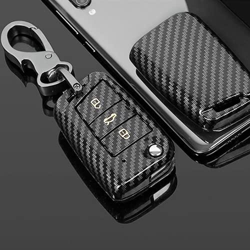 Carbono FiberCar Key Case Cover Key Bag, para Volkswagen VW Golf 7 GTI mk7 rAccesorios Holder Shell Car-Styling Keychain