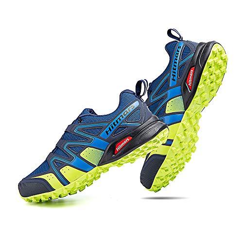 Zapatillas Trail Running Hombre Mujer Impermeables Zapatos Trekking Ligero Botas Senderismo Bajos Multideporte A Azul Talla EU 45