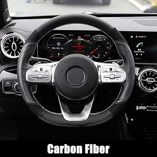 L-SHUNBAO 1pc Hand Nähen Lenkrad-Abdeckung Auto Vier Jahreszeiten Rutschfester Griff Leder Sitz for Mercedes Benz A-Klasse W177 A180 A200 A35 AMG 2019+ (Farbe : 1)