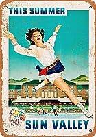 アルミメタルノベルティ危険サイン1956サンバレーとアイススキャグサイン、面白いメタルサインメタルサイネージ壁の装飾ガレージショップバーリビングルームウォールアート