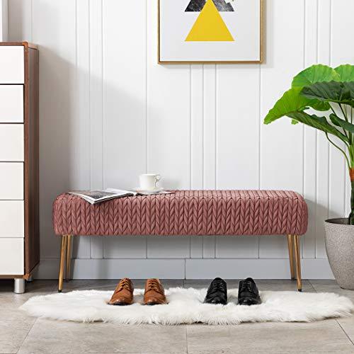Duhome Modern Quilt Velvet Bench