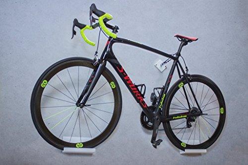 trelixx Fahrrad Wandhalter weiß Plexiglas® Acrylglas, platzsparende Fahrradaufbewahrung, Design Radhalter Wandmontage