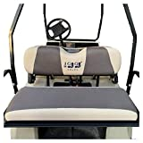 """10L0L Golf Cart Universal Back Seat Covers for EZGO Club Car Yamaha Washable Breathable Air Mesh Cloth (37.5"""" 13.5"""" 3.7"""") X-Small Gray Black Beige Red"""