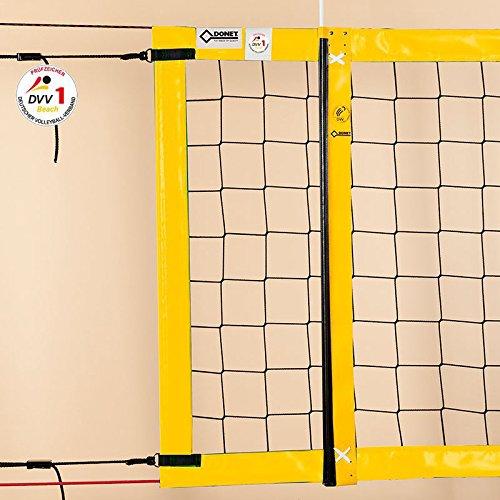 Beach-Volleyball-Turniernetz DVV-1, ca. 3 mm, 8,5 x 1,0 m, Einfassung gelb