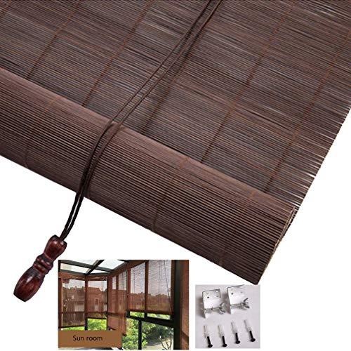 MWPO Bambus-Jalousie in natürlichen, Wasserdichten Sonnenjalousien für Außen- / Innen- / Balkon- / Raumteiler, alle Installationsteile inklusive, (50x150cm / 20x59in)