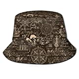 DJNGN Molino de Viento geométrico Unisex Casual Bucket Sun Hat Gorra de Pescador para Pesca Senderismo Camping