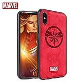TinPlanet Marvel Avengers Endgame iPhone Xs Max Case, Captain Marvel (Red)
