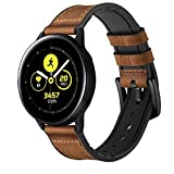 Unisex-Armband für Samsung Galaxy Watch Active, Milchglas, Kaffeebraun