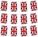 Haobase 20 Flags Union Jack Flag Buntings, British Flag Banner Pennant, The Great Britain Nation Flag for...