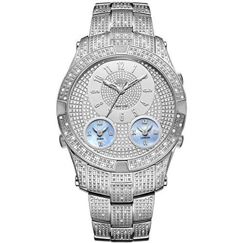 JBW Luxury Men's Jet Setter III 1.18 ctw Diamond Wrist Watch with Stainless Steel Link Bracelet