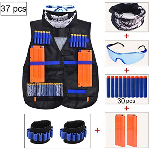 HEE Chaleco táctico para niños, Kit de Chaqueta Blasters Vest para la Serie Nerf Gun N-Strike