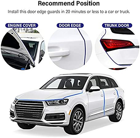 Blue Car Door Edge Guards Trim Rubber Seal Protector Guard Strip Car Protection Door Edge Anti Collision Strip #18-FZJT