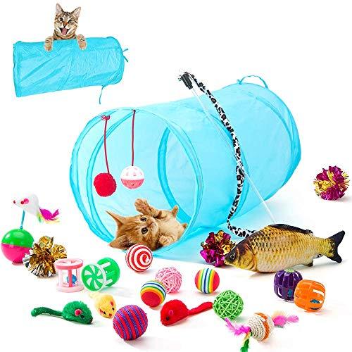 HIPIPET 21PCS Cat Toys Interactive Kitten Toys Assortments...