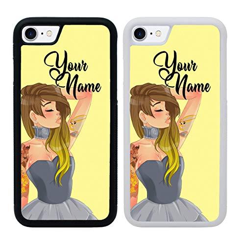 I-CHOOSE LIMITED Hipster Funda del Teléfono Personalizado para Apple iPhone 6 6s Cubierta Personalizada Personal Tu Nombre Parachoque Pantalla de 4.7'