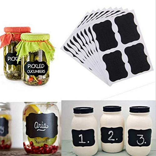 BLOUR 36pcs Glasflasche Etikettenaufkleber Mini Blackboard Label Dekoration Nachricht Tafel DIY Papier Party Dekoration Baby Shower-S
