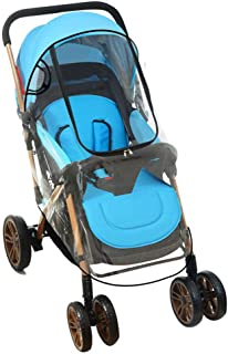 Hamkaw Stroller Rain Cover, Jogging Stroller Pram Rain Cover Universal Baby Carriage Weather Shield with Intimate Pocket Uv Protection Waterproof High Transparency for Newborn Infant