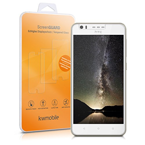 kwmobile Folie kompatibel mit HTC Desire 10 Lifestyle - Glas Handy Schutzfolie - Full Screen Bildschirm Schutz