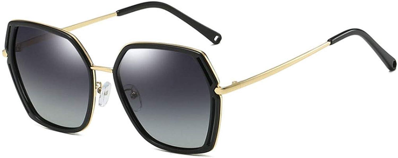 Women's Stylish Polarised Sunglasses UV400 Predection Goggles Large Metal Frame Retro AntiGlare Eyewear HD Outdoor Sunglasses for Driving Travel